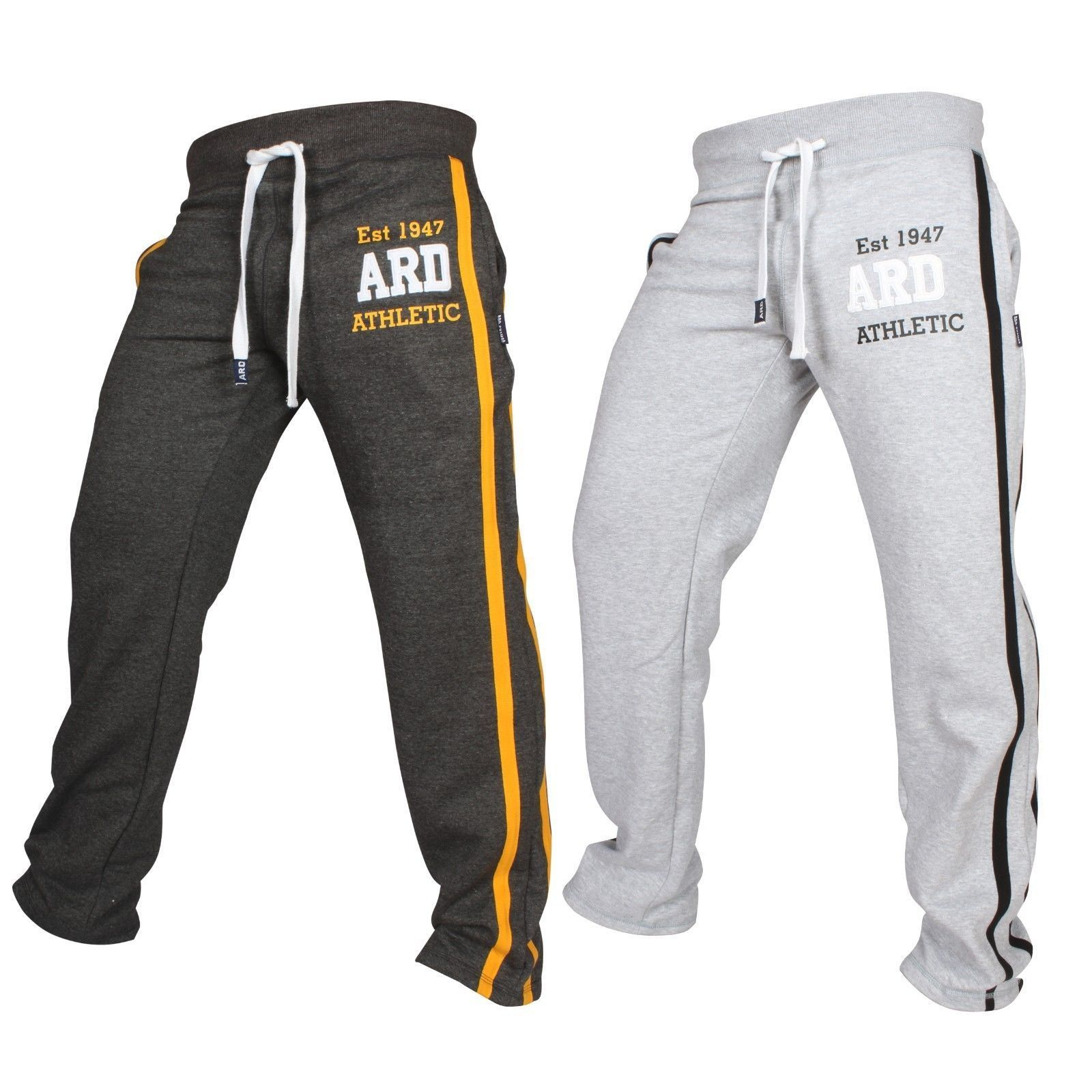 Mens Met-X Muscle Gym Fleece Joggers Track Suit Bottom Jogging Exercise Fitness Boxing MMA Gym Sweat Fleece Trousers Black//Yellow
